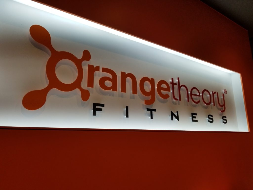 Orangetheory FItness sign