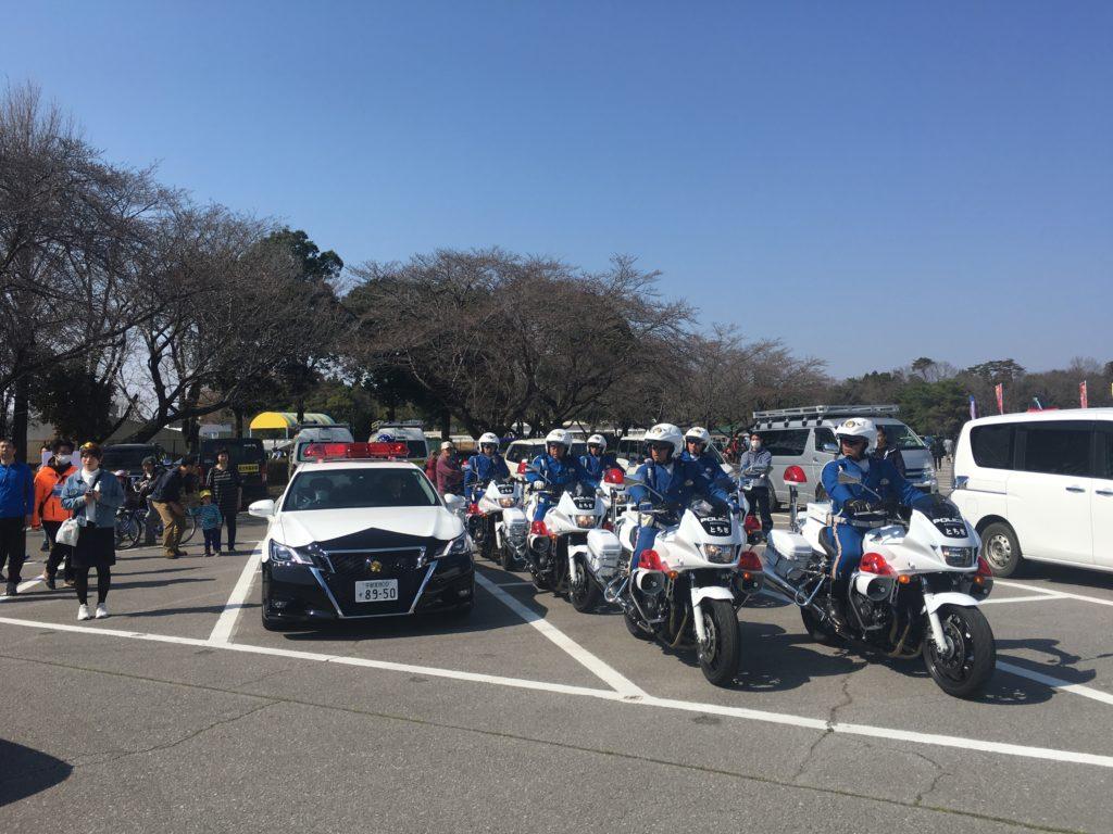 Police cars in Japan