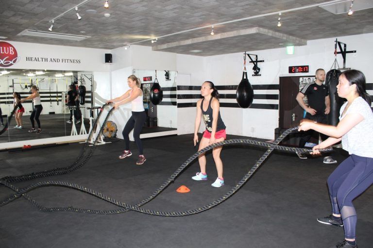 Battle ropes in Tokyo