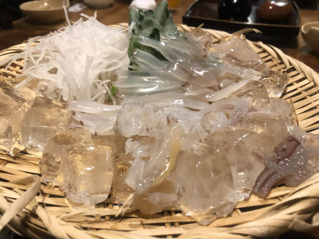 Tagosaku squid dinner raw Japan