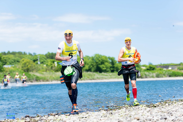 Two swimrun participants in Japan