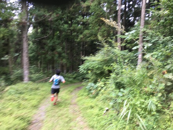 Trail runner in Japan