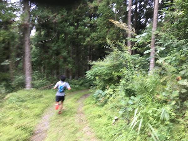 Trail runner in Japan