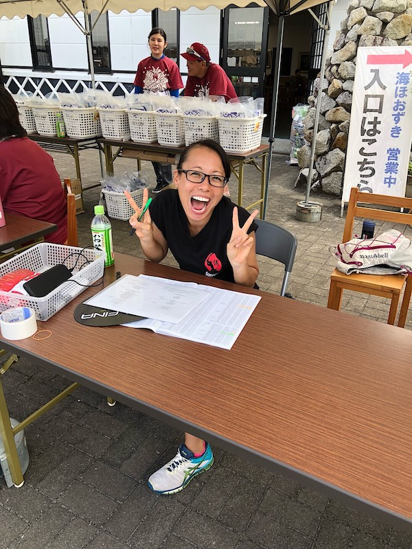 Samurai Sports help desk at Ise Shima Triathlon