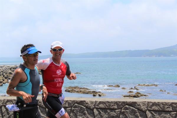 Triathlete running at Ise Shima Triathlon