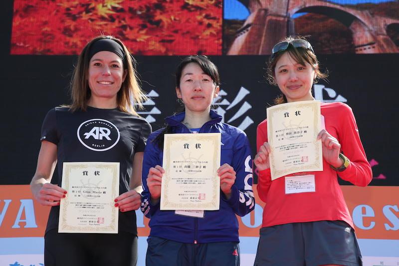 Female winners at a race