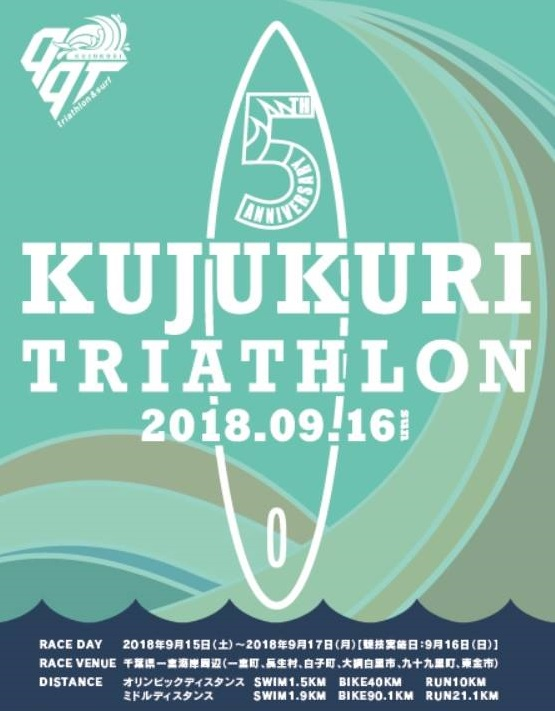 Promotional poster for triathlon in Japan