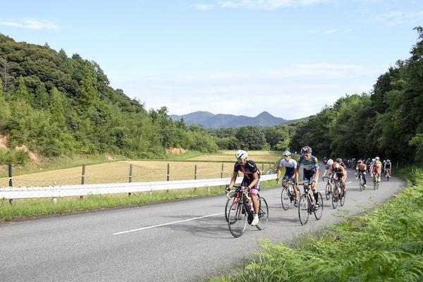 Bikes on road in Japan