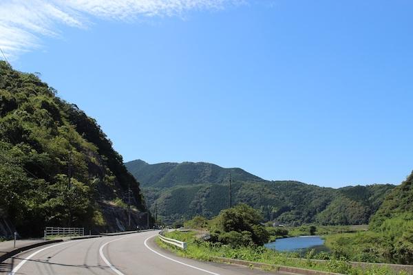 Blue skies cycling in Japan