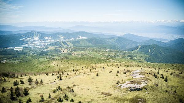 view from Skyline Sugadaira Trail