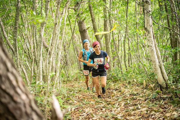 runners on sugadaira trail