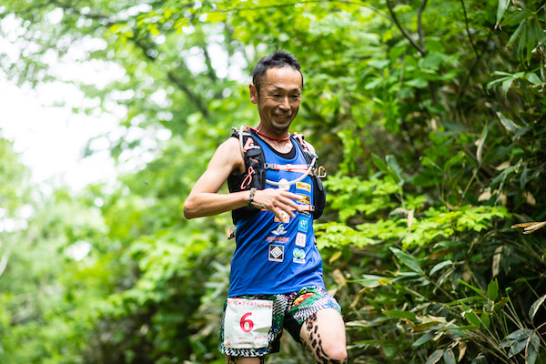 runner on Sapporo Teine trail