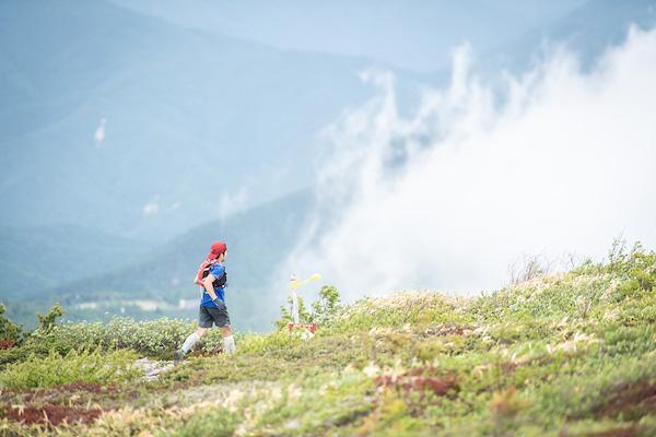 runner on Skyline Trail Sugadaira