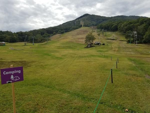 Grinduro Japan camp grounds