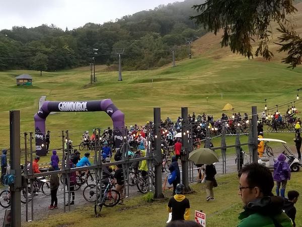 start line of Grinduro Japan