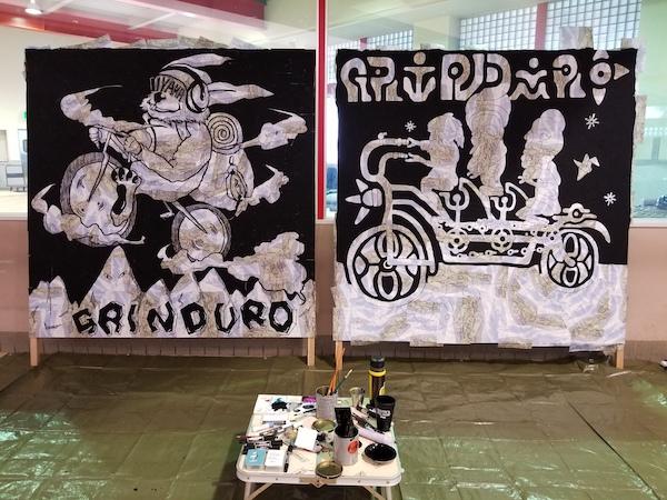 Unique paintings for Grinduro Japan