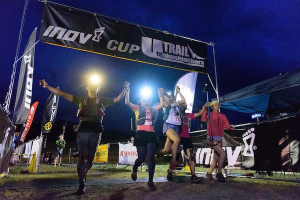 runners finishing utsukushigahara trail