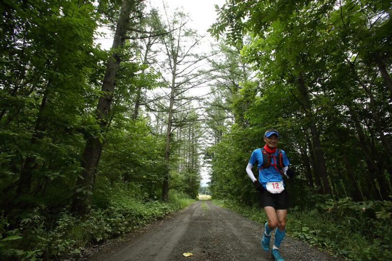 runner on Tokachidake trail