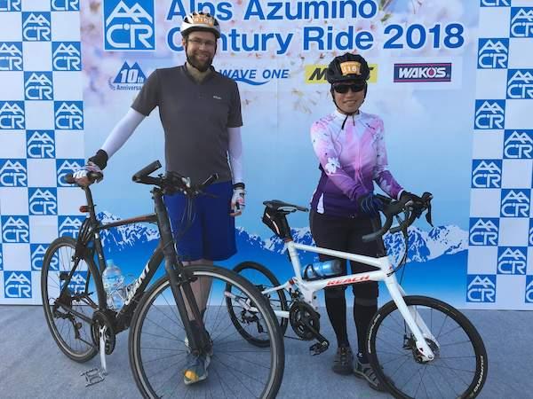 Alps Azumino Century Ride cyclists