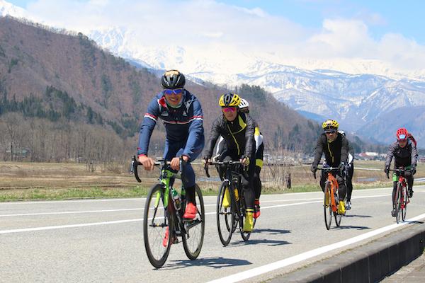 Cycling in Nagano springtime