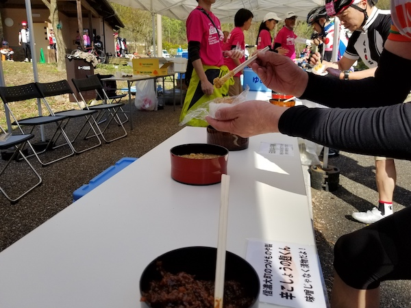 Miso pastes at cycling event