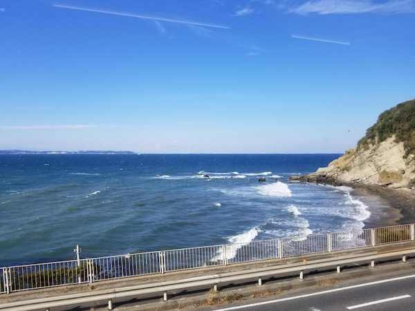 View of Chiba coast from Boso Bicycle Base Train