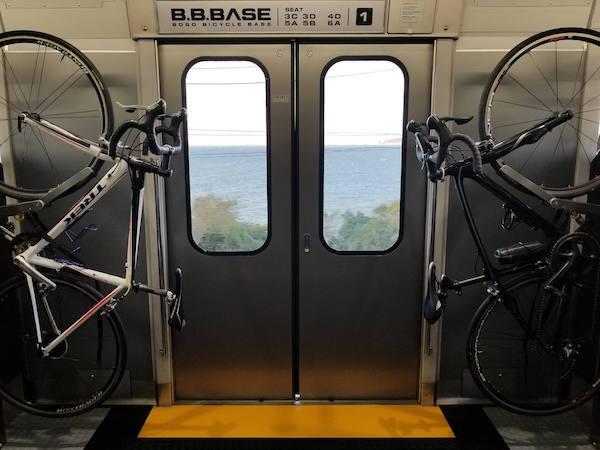 bike rack on B.B.Base Train