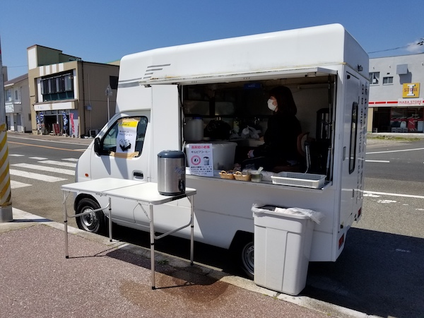 Food truck at aid station on long ride