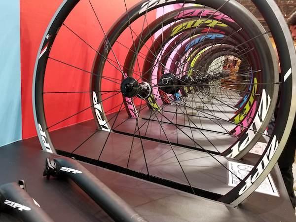 Zipp wheels in Tokyo cycling exhibition