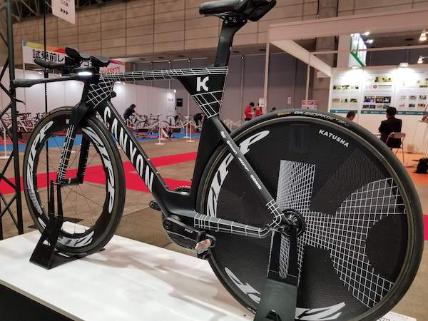 Canyon bike with Zipp wheels at Cycle Mode International