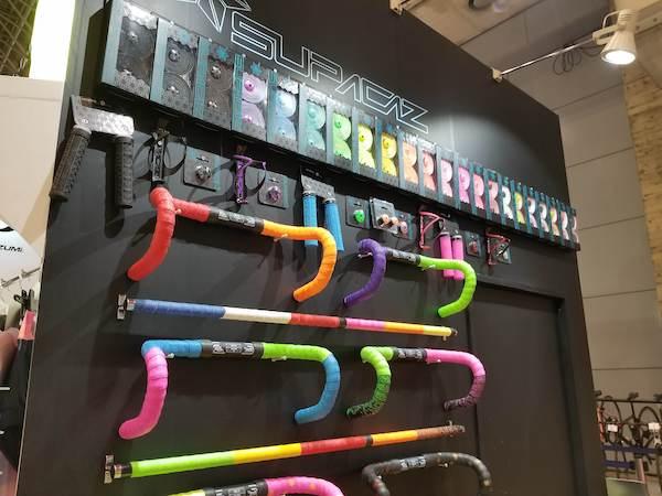 Bicycle handlebars at exhibition