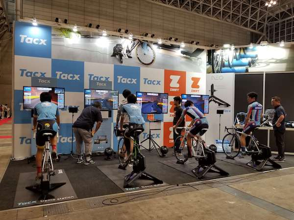 Zwift and TacX exhibition booth