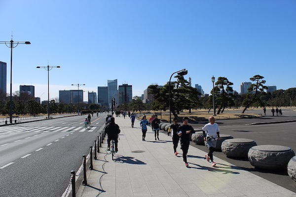 Runners at Imperial Palace