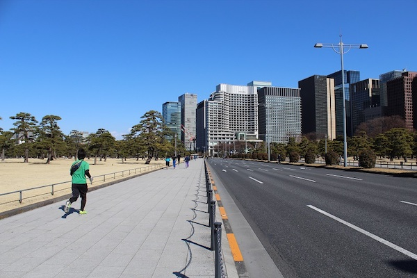 Runner outside Imperial Palace