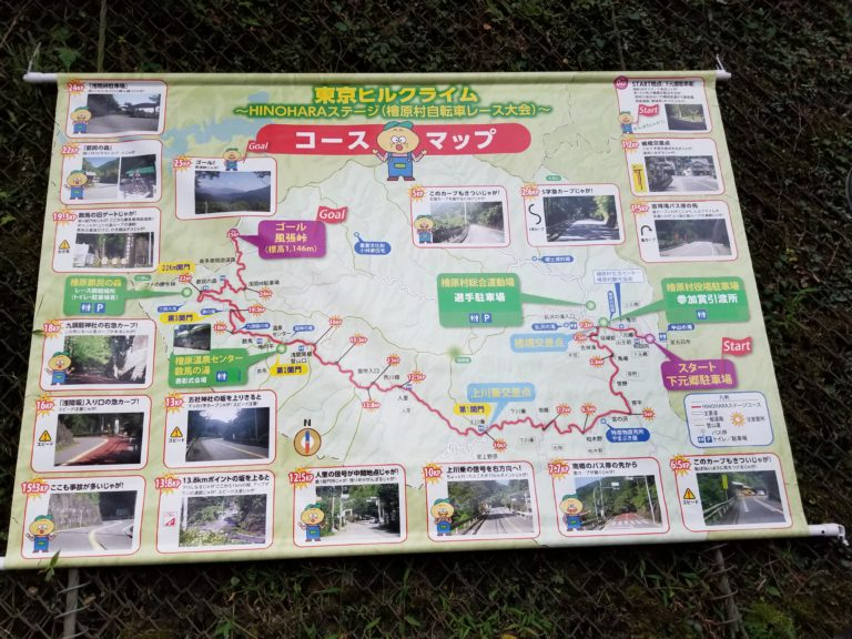 Course Map of west Tokyo bike race