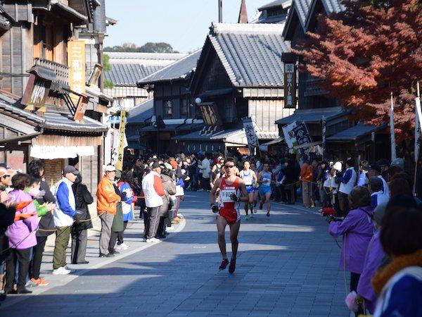 Lead runner at the Oise-san Marathon