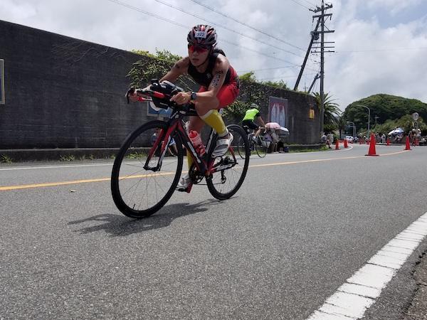 cyclist during ise shima satoumi triathlon