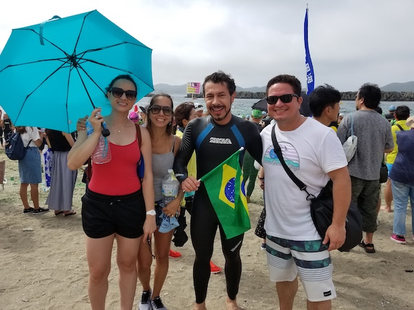 Brazilian family at ise shima satoumi triathlon