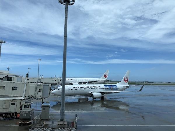 Plane at Haneda Airport in Japan