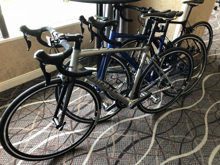 Rental bikes at triathlon in Japan