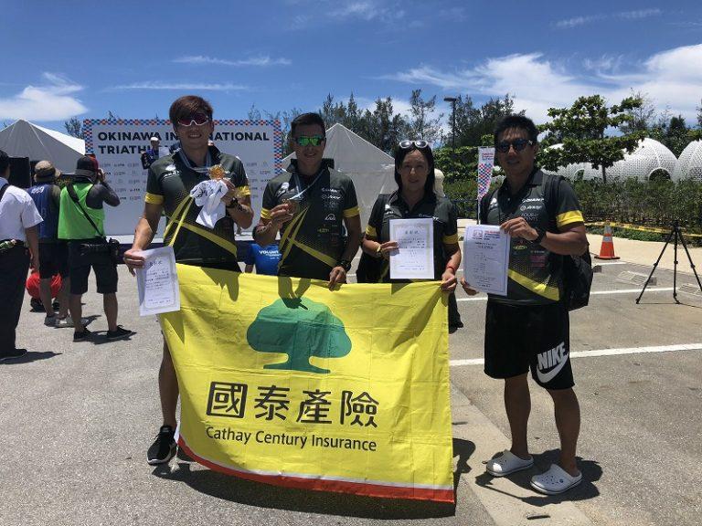 Taiwanese team at the Okinawa International Triathlon