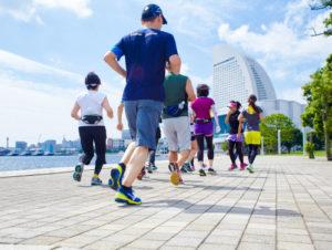 Running in Minato Mirai