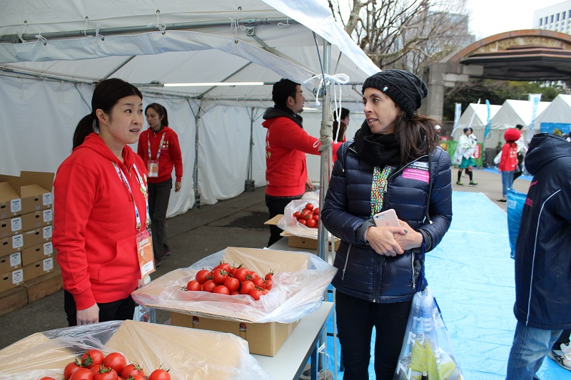 Tokyo Marathon aid station