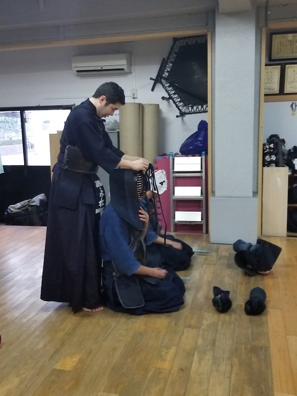 getting ready for kendo lesson