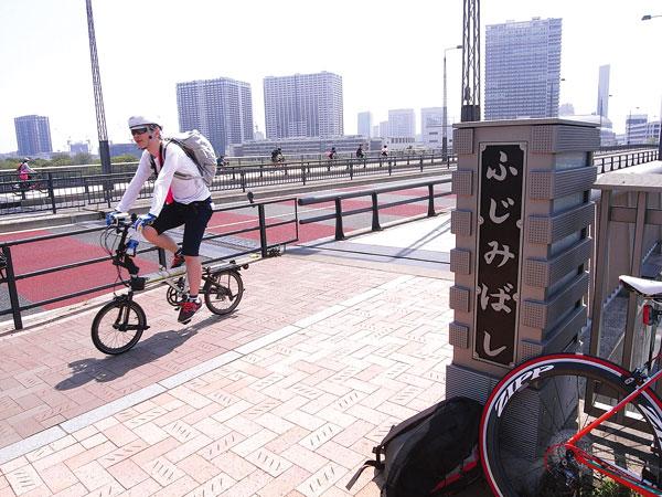 Bike rider in Tokyo