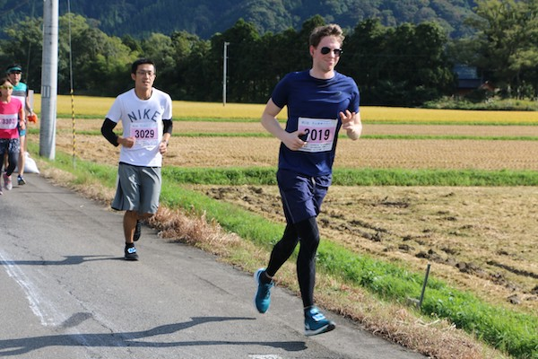 runner during Gassan Ryujin Marathon