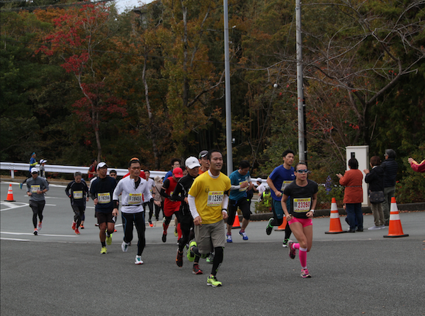 Runners at the Oise-san Marathon