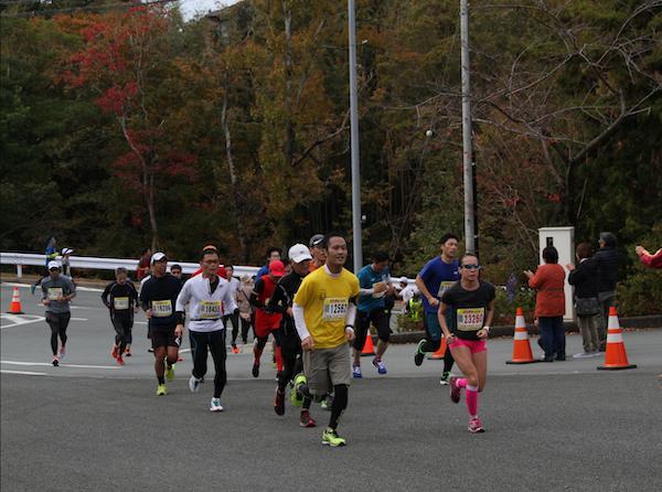 Runners at the Oise-san Marathon