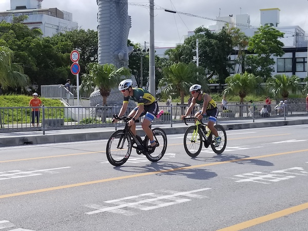 cyclist during Okinawa International Triathlon