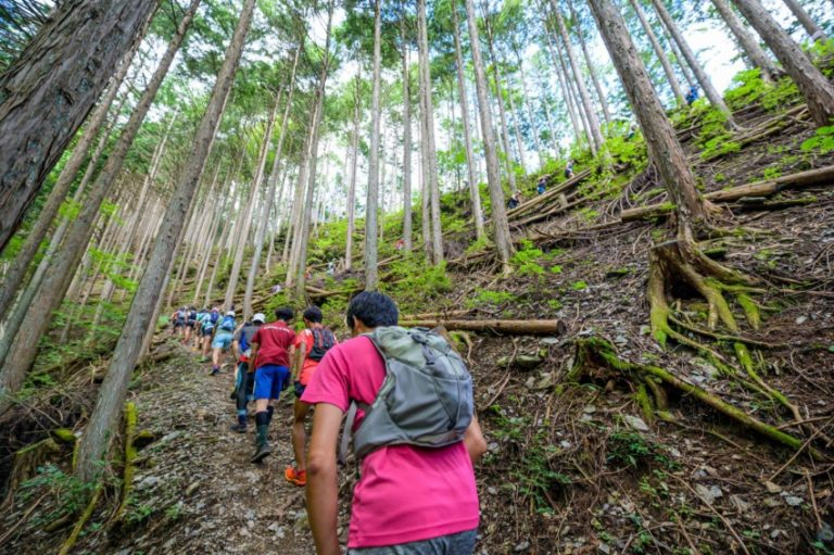 runners during Tamagawa Genryu Trail race